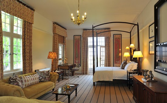 Safari Fusion blog | Four-poster beds | Colonial grace of the grand Stable Suite at the Victoria Falls Hotel, Zimbabwe