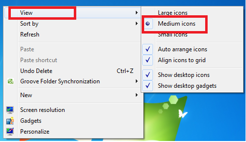 Resize & Make Small Icons in Taskbar & Desktop