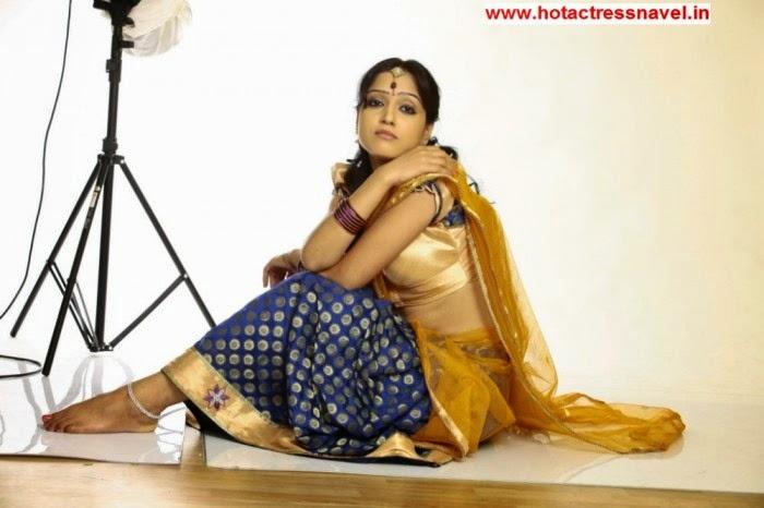 Divya Singh Hot Hip Show In Brown Sari