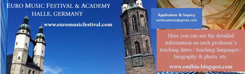 2019 Euro Music Festival & Academy PROFESSORS