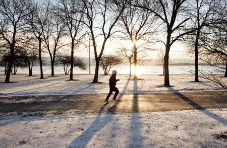 exercise, running, winter
