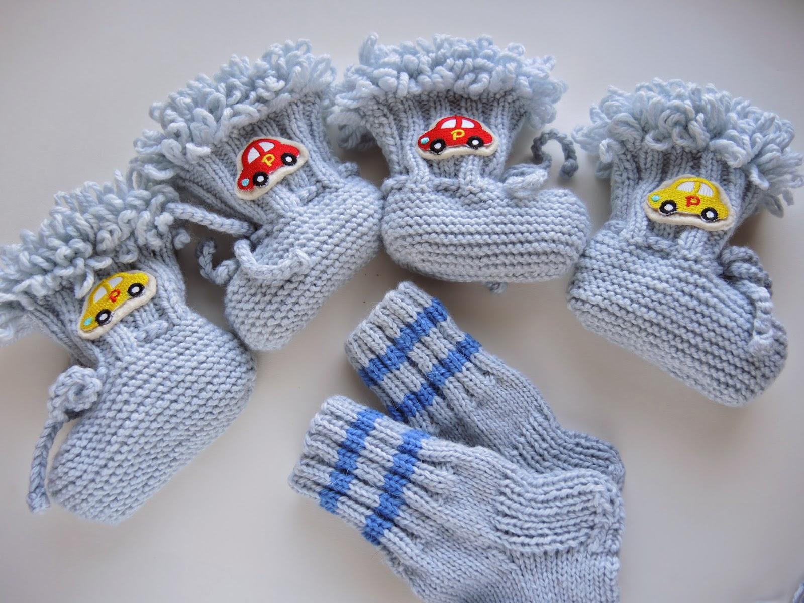 носки связаные спицами для детей, детские носочки