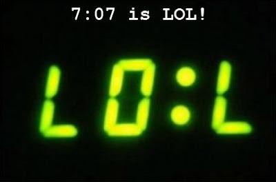 7:07 is LOL upside down clip art