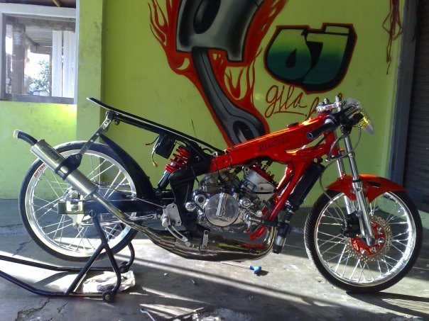 Drag Bike Modifikasi Motor Drag Gambar Foto Modifikasi Motor Jupiter Z