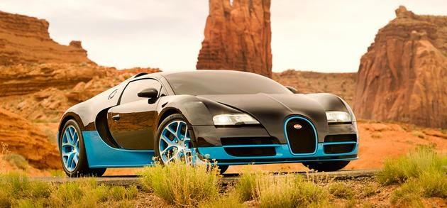 Foto Bugatti Grand Sport Vitesse Mobil Autobots Film Transformers 4 Age of Extinction