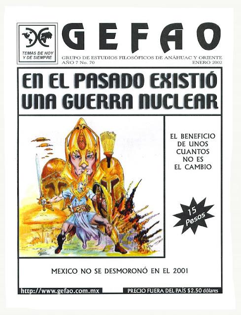 Revista GEFAO No.70 EN LA ANTIGUEDAD EXISTIO UNA GUERRA NUCLEAR