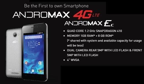 Harga HP Smartfren Andromax Ec, Ponsel LTE Murah GSM-CDMA