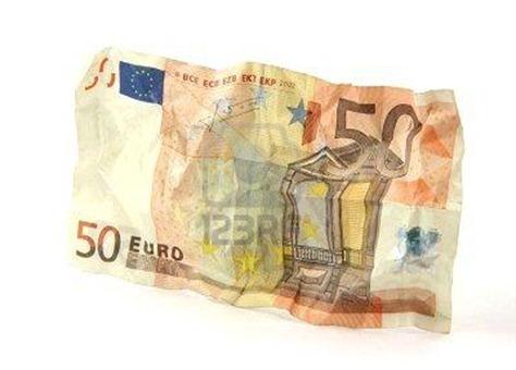 Risultati immagini per 50 euro accartocciati