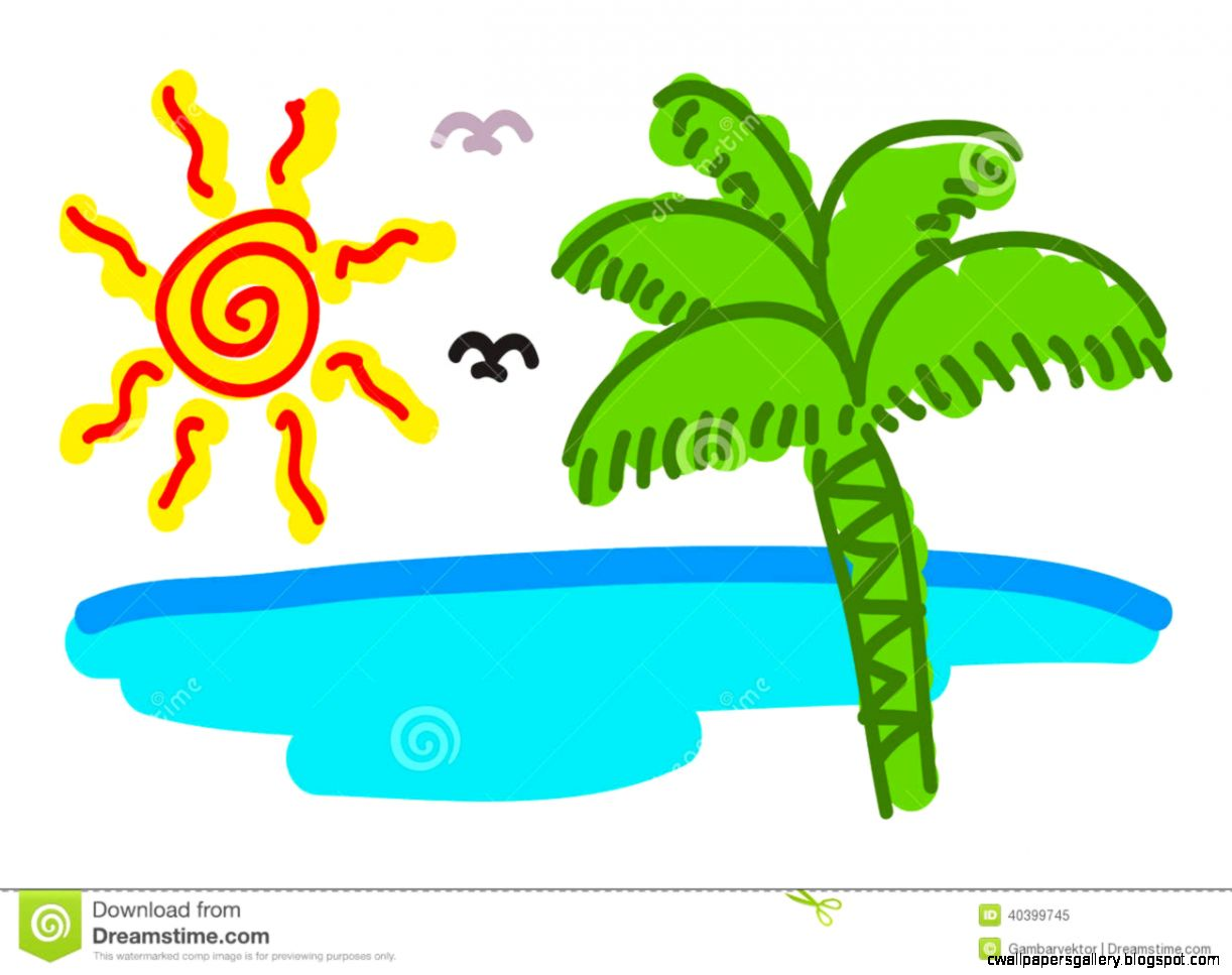Doodling The Sunrise Beach Stock Vector   Image 40399745