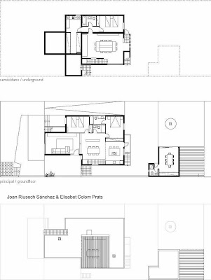 Planos de arquitectura - plantas de la casa contemporánea en Puerto Pollensa