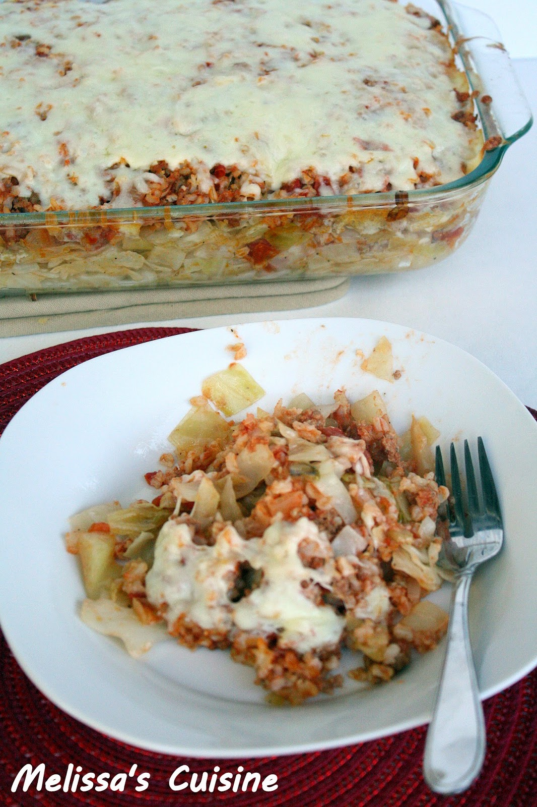 Melissa's Cuisine: Stuffed Cabbage Casserole {Flashback Friday}