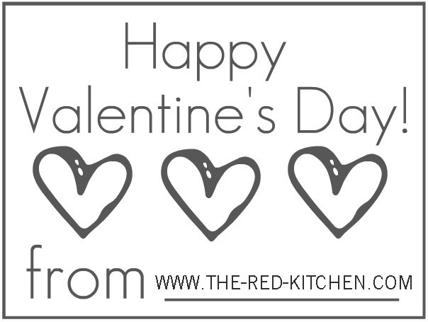 picture about Happy Valentines Day Banner Printable called the pink kitchen area: 3 for No cost! -- Pleasurable Valentines Working day Printables