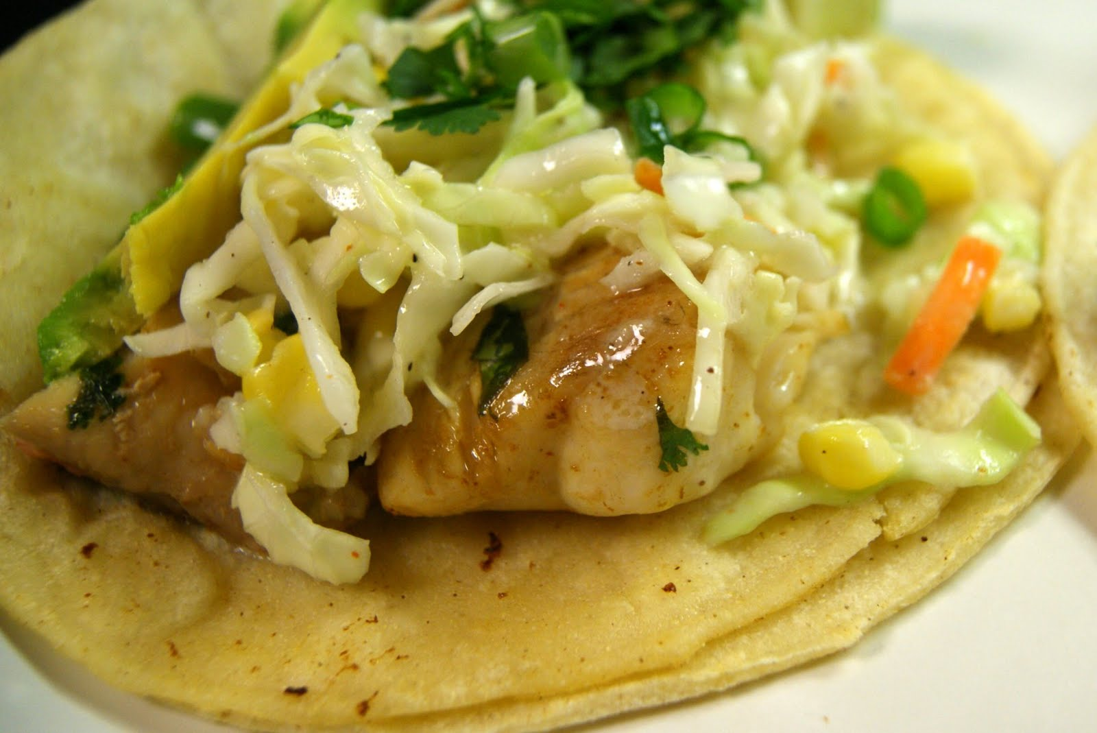 Season with love fish tacos with citrus slaw for Fish tacos with coleslaw