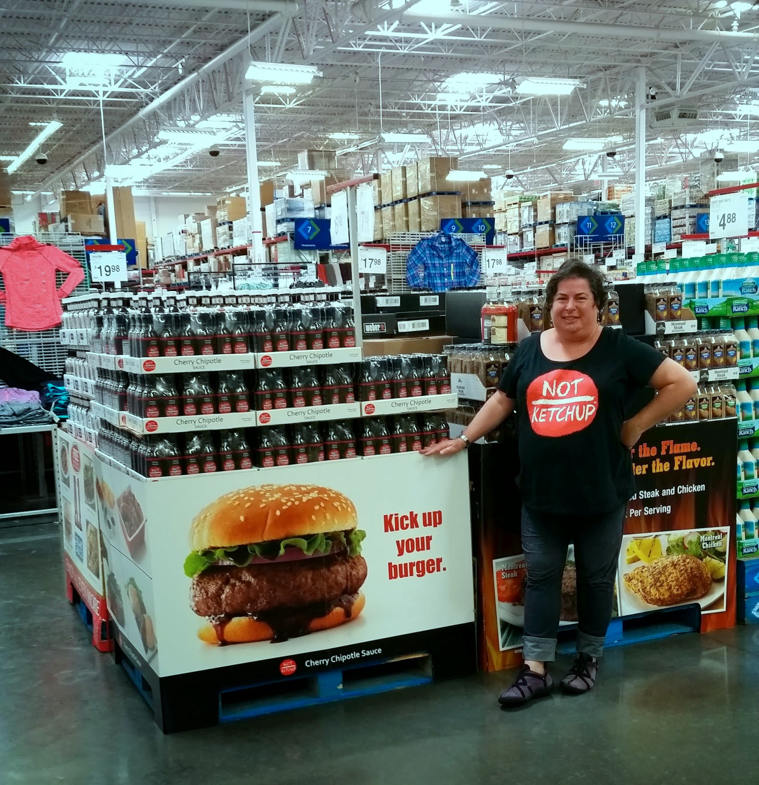 Cherry Chipotle Not Ketchup fruit ketchup sauce at Sam's Club Fountain Valley with CEO Erika Kerekes