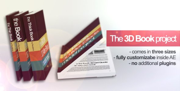 VideoHive 3D Book Mock-up Project