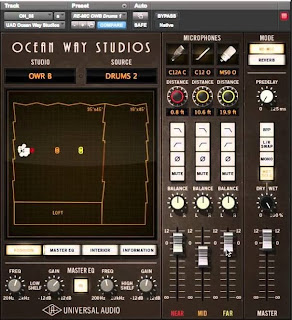 UAD Ocean Way Studios Plugin image from Bobby Owsinski's Big Picture Blog