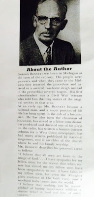 Climbing My Family Tree: 'About the Author' flyleaf for The Passing Parade by Gordon Russell (pseud of Russell Bennett)