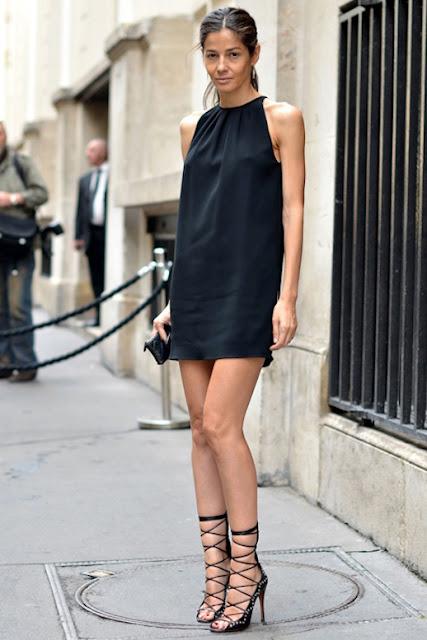 vestido preto balada soltinho