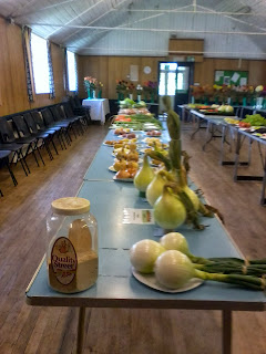 several different veg ready to be judged