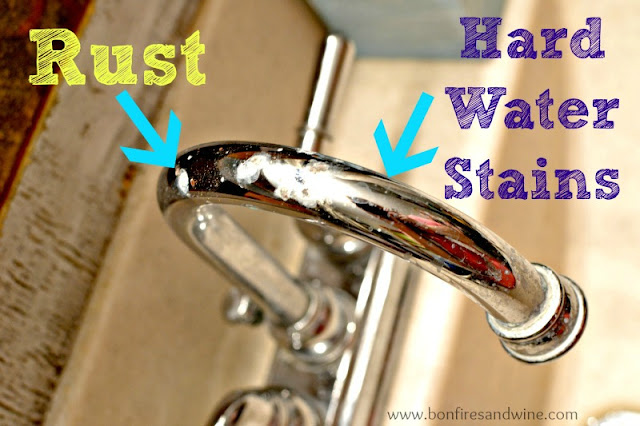 Bonfires and Wine: Faucet Face Lift - Spray Paint to the Rescue