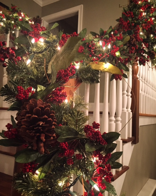 The Fact That I Already Have My Garland Hanging And Itu0027s Only Mid November  Should Be A Tell Tell Sign That I Donu0027t Use Fresh Greenery On The Stairs.