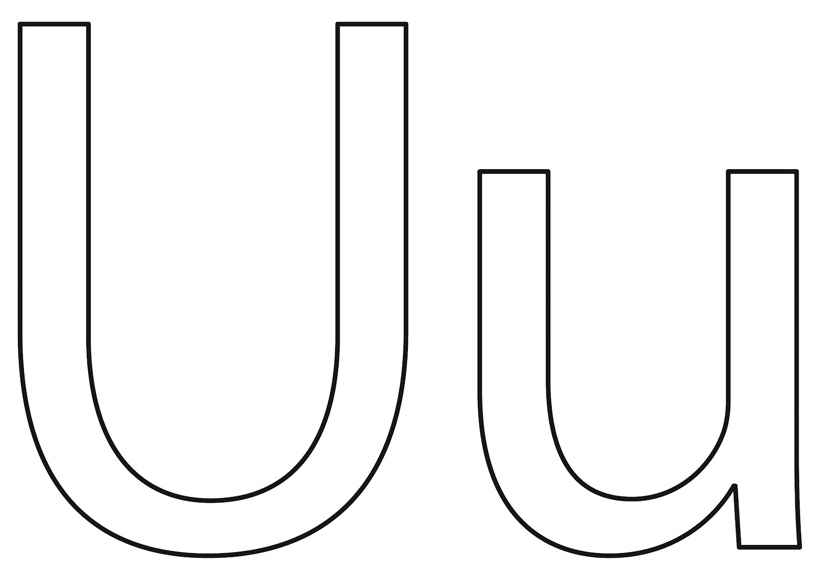 The bingham diaries the letter u for preschoolers for Letter u coloring pages