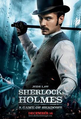 Sherlock Holmes 2 Jude Law Watson Poster HD