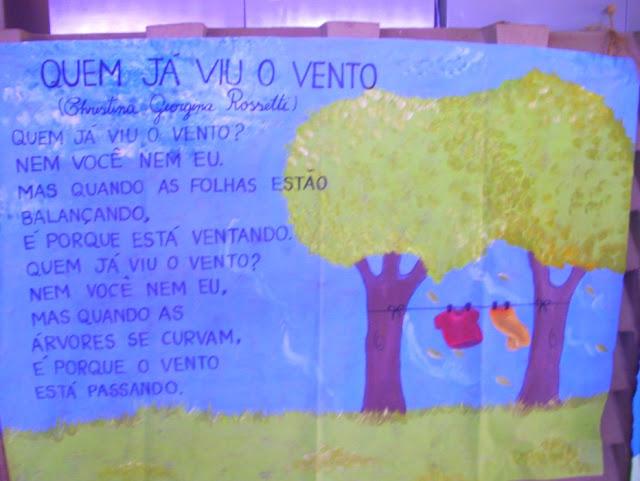 Cartaz com texto quem nunca viu o vento