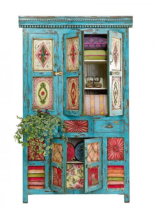alacena rustica pintada bohemia