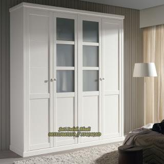 Lemari Pakaian Minimalis Jati indah Furniture