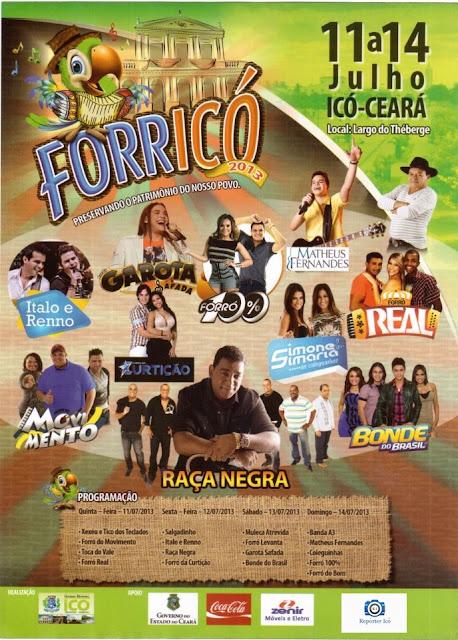 Forricó 2013 programação oficial