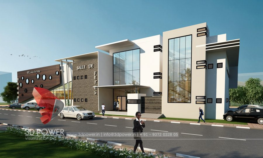 3d animation 3d rendering 3d walkthrough 3d interior for Motel exterior design