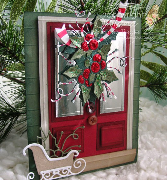 christmas door card front