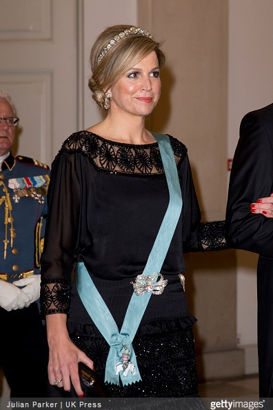 Queen Margrethe II of Denmark attend sa Gala Dinner at Christiansborg Palace on the eve of The 75th Birthday of Queen Margrethe of Denmark on April 15, 2015 in Copenhagen, Denmark.