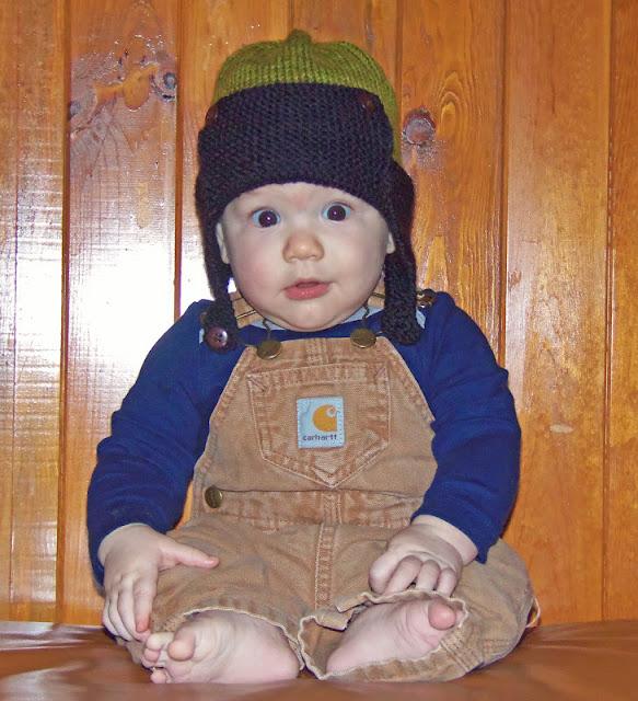 Pattern is the Regan- Aviator hat by Julie Taylor (Ravelry Link) 6da3455c5e4