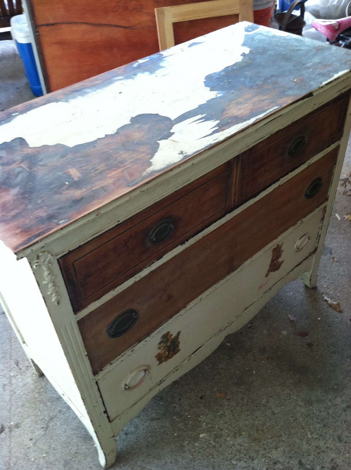 Can i stain over stain - You Can Spot Some Issues Paint Needs To Be Stripped And The Mahogany Stain Is Hard To Paint Over Unless You Use Black I Had Already Decided I Wanted To