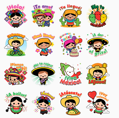 iHola Mexico Lindo stickers