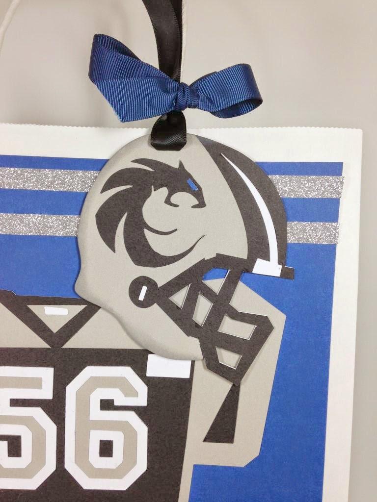 Cricut Football Gift Bag tag