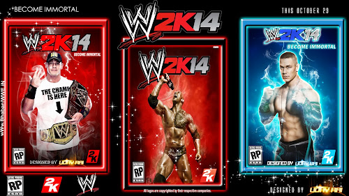 Wallpaper » WWE 2K14 Cover Collection (feat. The Rock & John Cena) By Uday Rai via iPOST