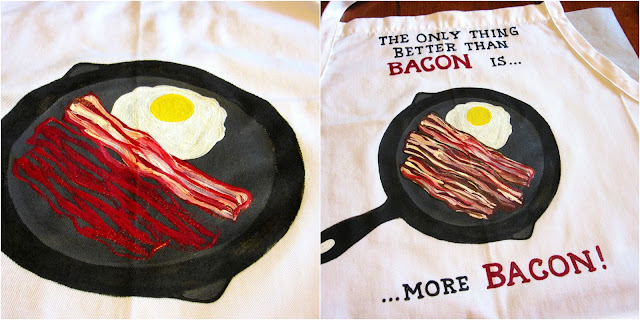 Bacon Lovers Hand Painted Apron