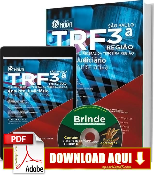 Apostila TRF 3ª Região Analista Judiciário PDF Download Grátis