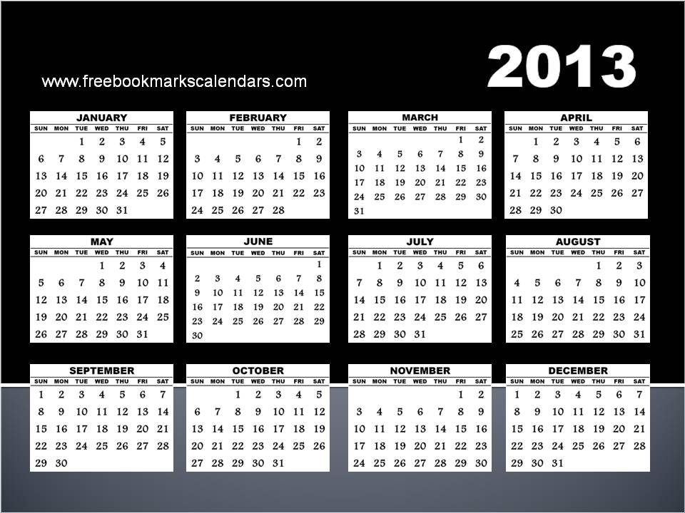 here is a free 2013 calendar yearly printable template for free