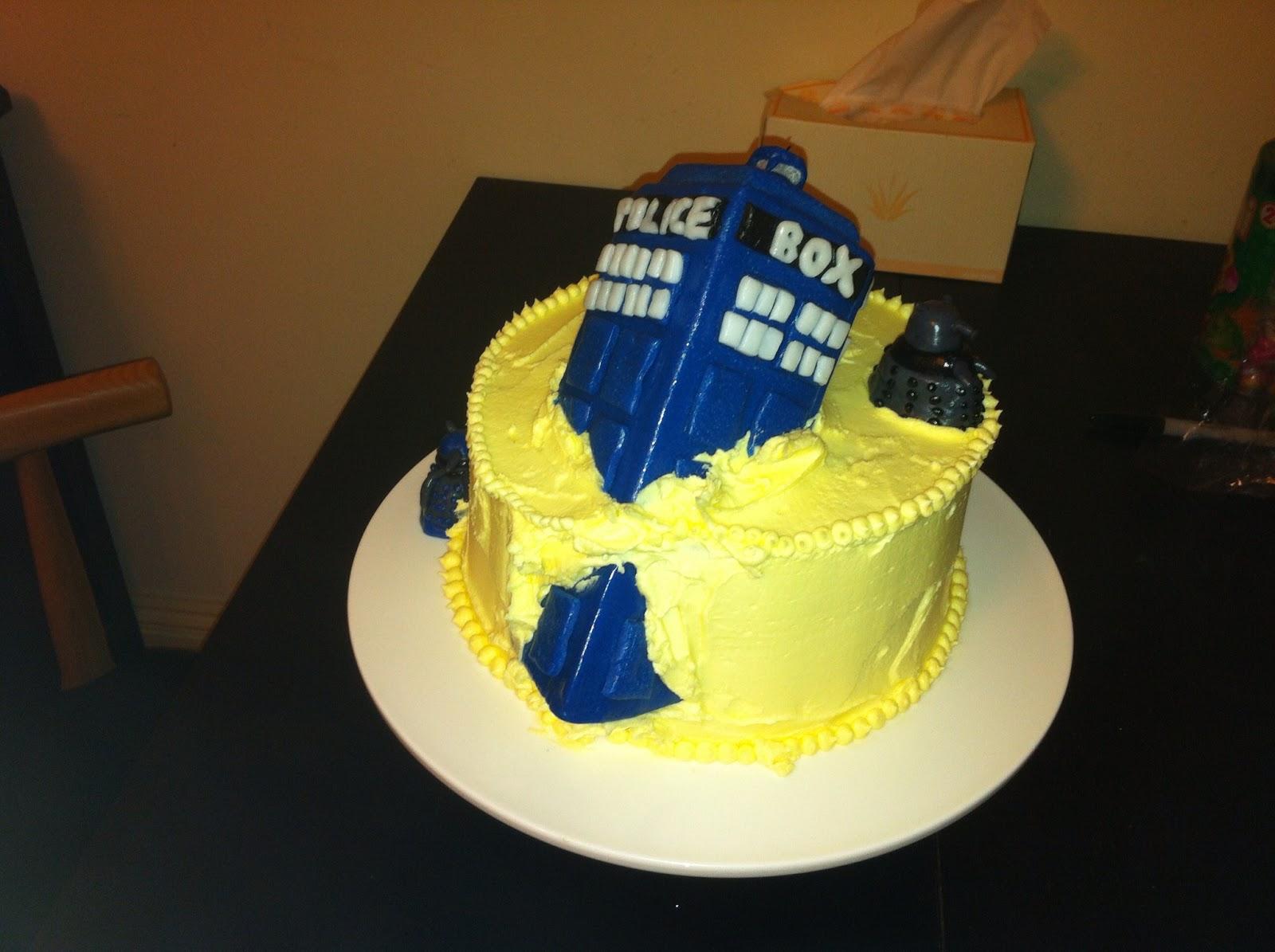 Vanilla Gorilla Doctor Who Cake