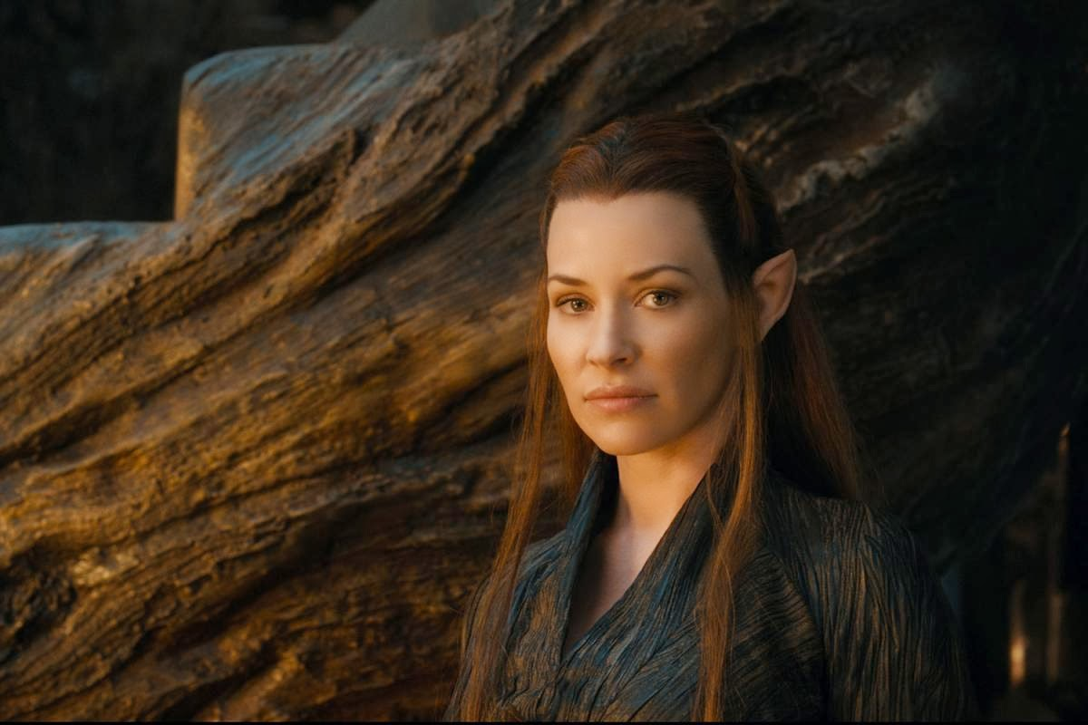 Evangeline Lilly as Tauriel the Magnificent (hah) in The Hobbit: The Desolation of Smaug