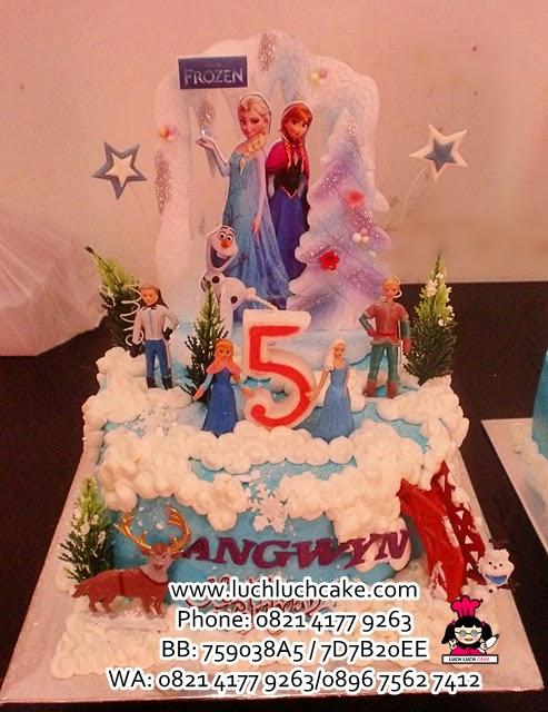 Kue Tart Frozen Princess Elsa and Anna Daerah Surabaya - Sidoarjo