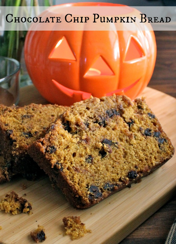 A little pumpkin, a little cinnamon, and a heaping of mini chocolate chips give this Chocolate Chip Pumpkin Bread it's perfect flavor. Add a light sugar lemon glaze and dig in!