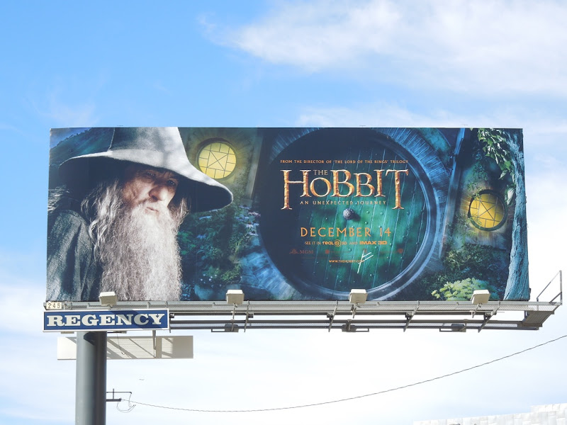 Hobbit Unexpected Journey billboard