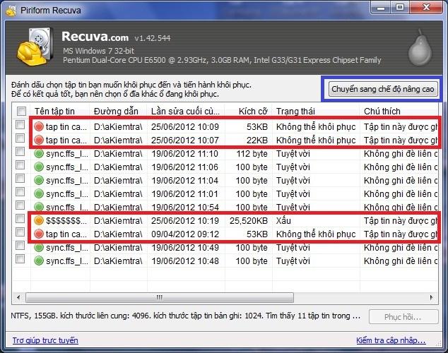 Recuva - khôi phục dữ liệu dễ dàng