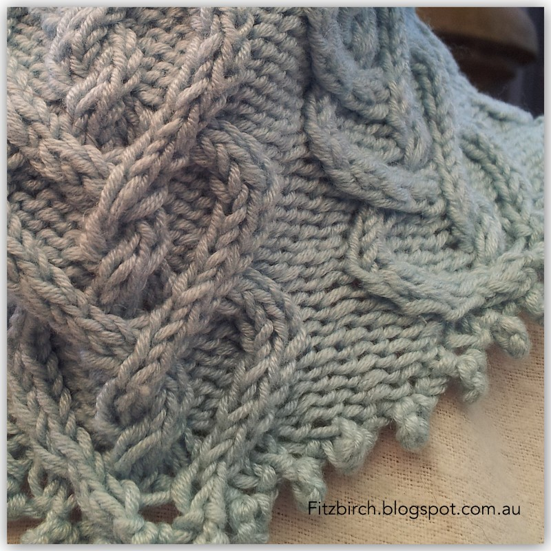 FitzBirch Crafts: Picot Hearts Neck Warmer