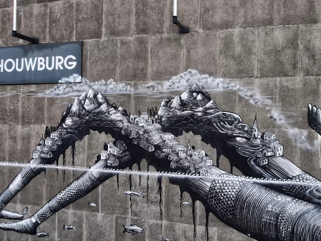 Street Art By Phlegm For Day One Festival In Antwerp, Belgium. 3